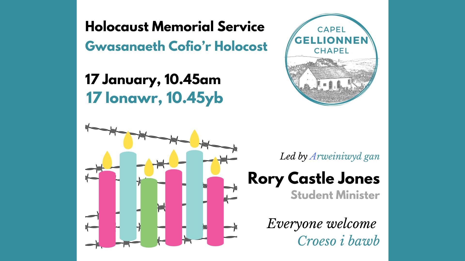 Holocaust Memorial Service / Gwasanaeth Cofio'r Holocost