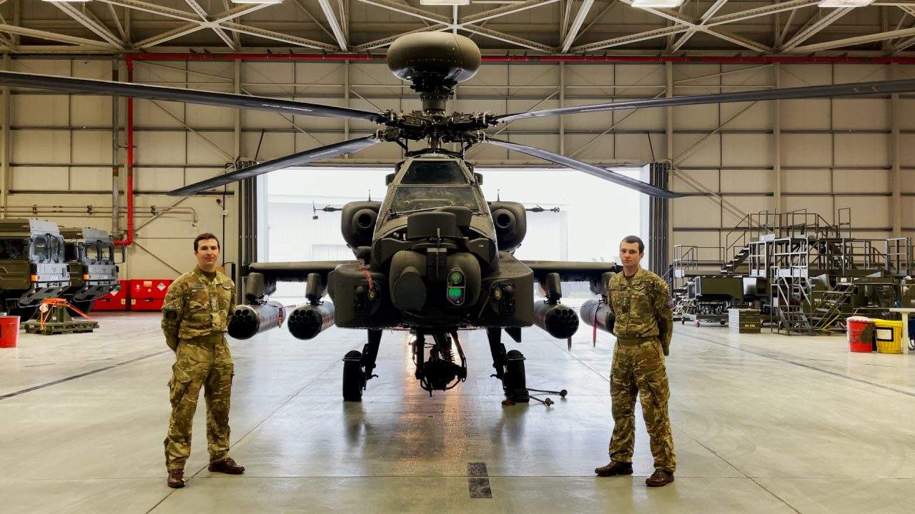 The 1st Aviation Brigade at Wattisham Airfield joined the Ceremony