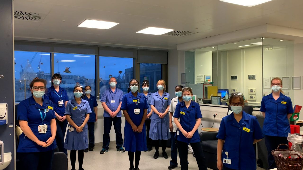 Staff at Haematology Day Unit, NHS Guy's Hospital, London, joined the Ceremony