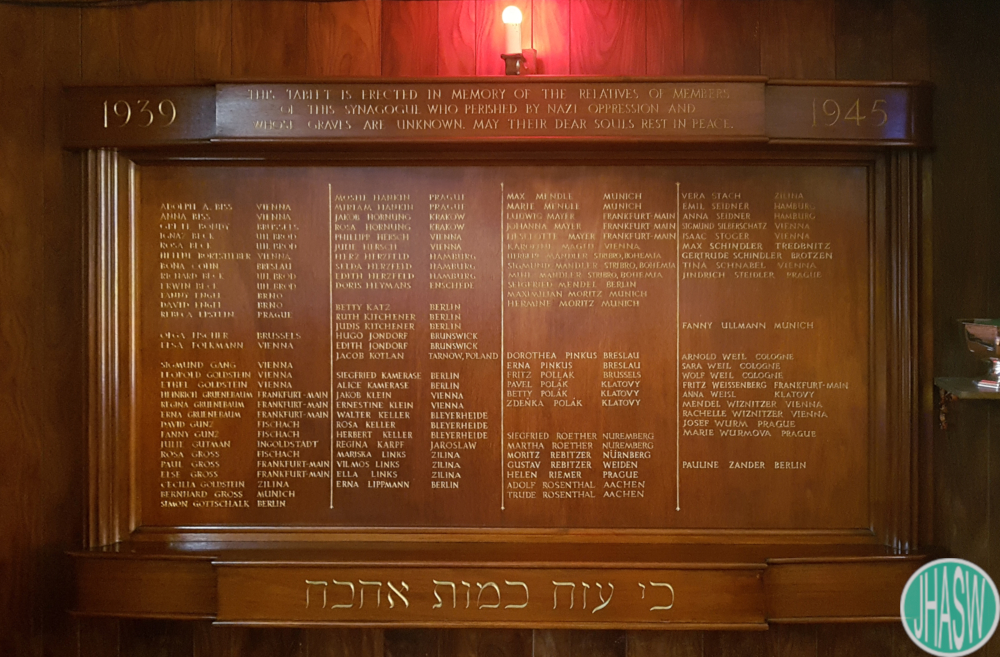 Not just names: Celebrating the lives of the people inscribed on the Cardiff Reform Synagogue Holocaust Memorial
