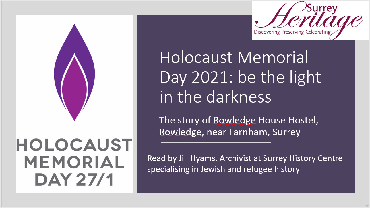 Holocaust Memorial Day 2021: The story of Rowledge House Hostel