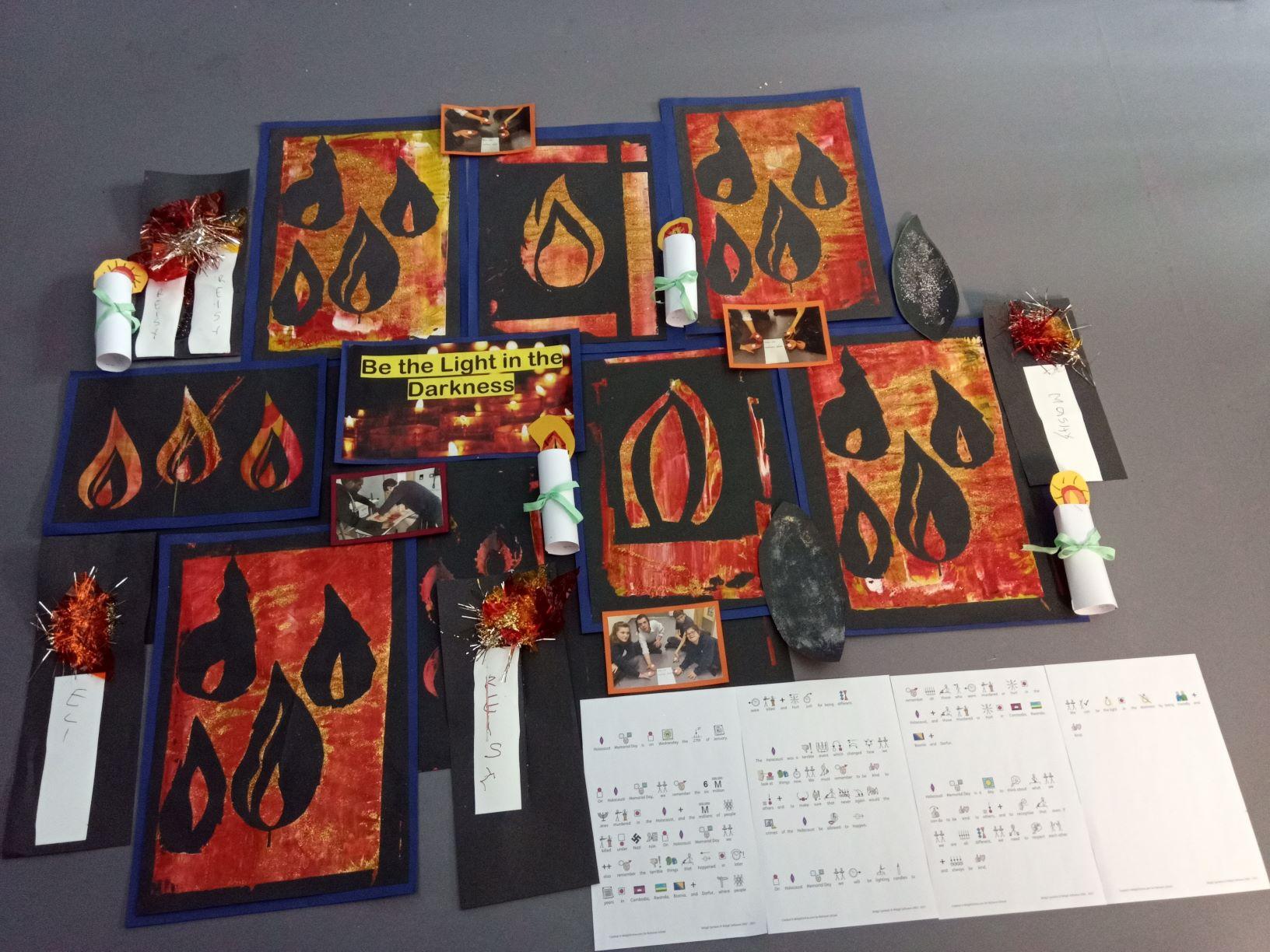 Memorial Flame Art Display