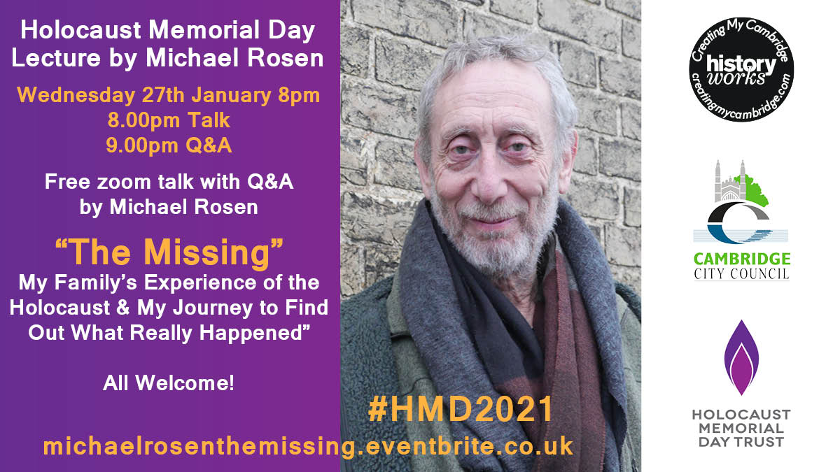Cambridge Holocaust Memorial Day Lecture with Michael Rosen