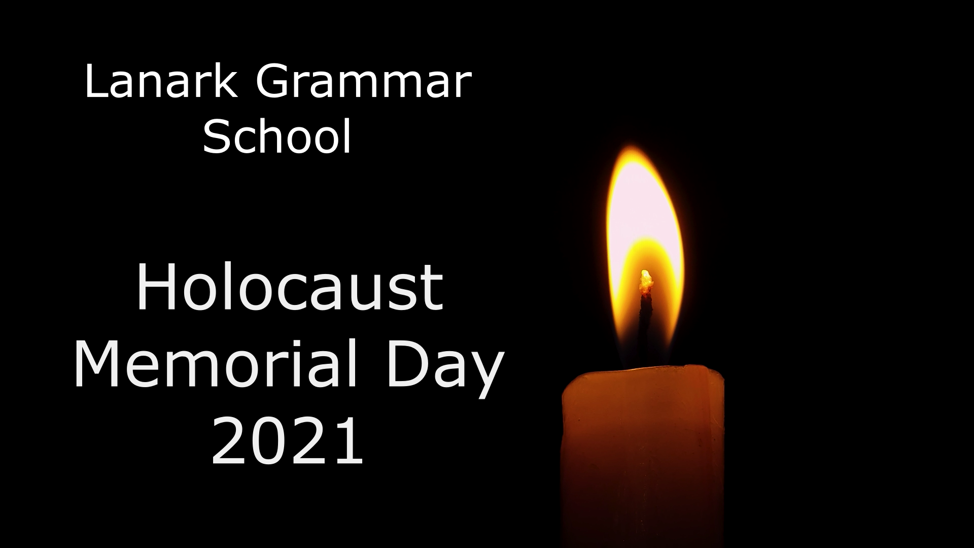 Lanark Grammar School Act of Remembrance and Hope