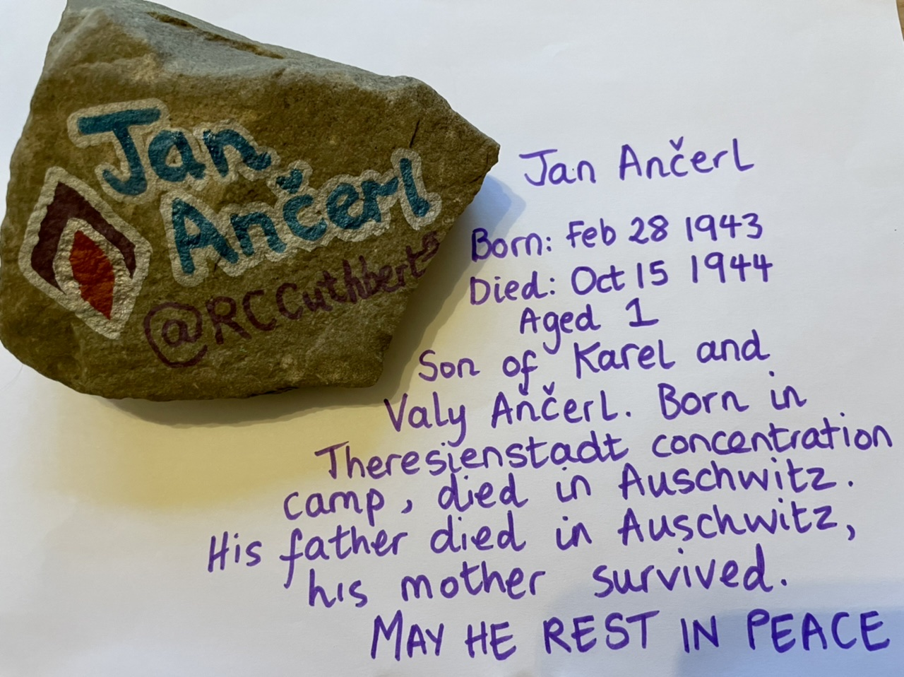 Researching and decorating stones to commemorate victims of the Holocaust