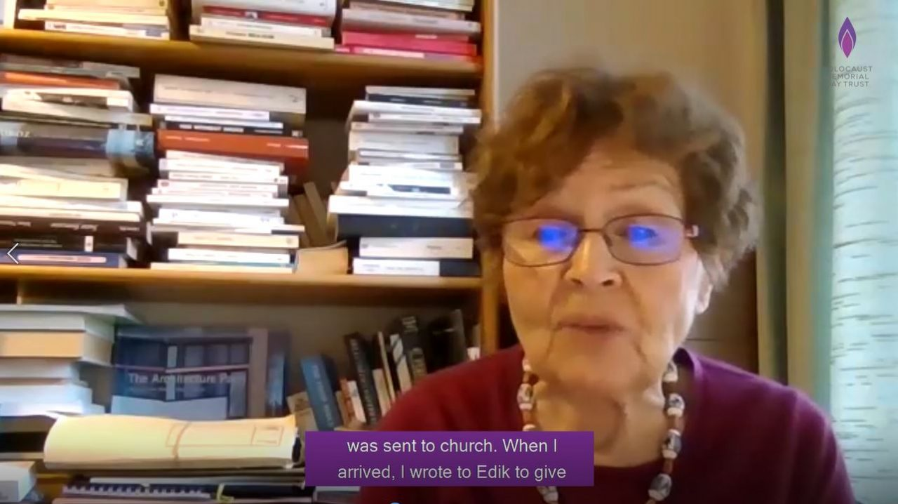 Janine Webber BEM, survivor of the Holocaust gives her testimony