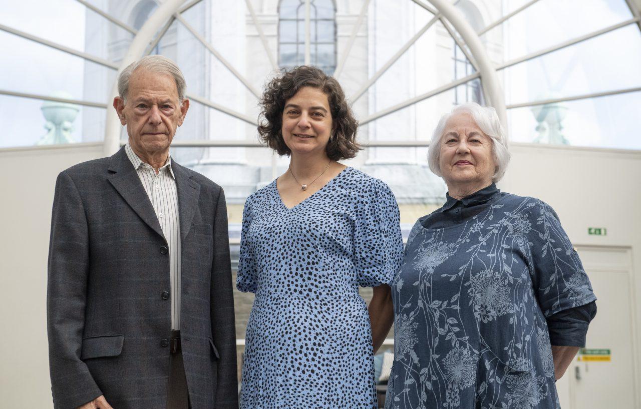 John Hadju MBE, Olivia Marks-Woldman OBE and Joan Salter MBE at the opening of 'Generations: Portraits of Holocaust Survivors', © IWM
